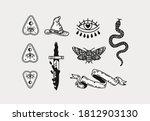 halloween scary occult... | Shutterstock .eps vector #1812903130