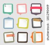 sticks note paper  | Shutterstock .eps vector #181290449