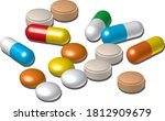 various medicine capsules and...   Shutterstock .eps vector #1812909679