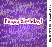 happy birthday card with typo... | Shutterstock .eps vector #181292546