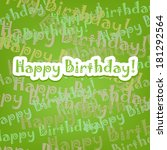 happy birthday card with typo... | Shutterstock .eps vector #181292564