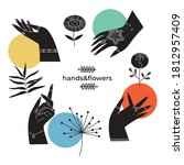 abstract collection of hands...   Shutterstock .eps vector #1812957409