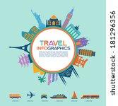 infographics elements  travel... | Shutterstock .eps vector #181296356