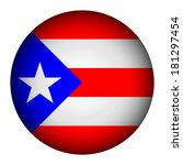 puerto rico flag button on a... | Shutterstock .eps vector #181297454