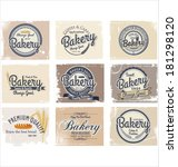 collection of vintage retro... | Shutterstock .eps vector #181298120