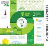 modern ecology design layout | Shutterstock .eps vector #181298558