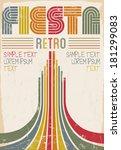 Fiesta Retro Editable Poster  ...