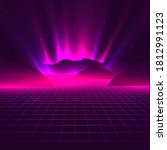 vaporwave aesthetic neon... | Shutterstock .eps vector #1812991123