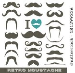 moustaches set. design elements. | Shutterstock .eps vector #181299326
