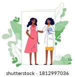 medicine concept of pregnancy... | Shutterstock .eps vector #1812997036