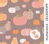 beautiful pumpkin halloween... | Shutterstock .eps vector #1813009399