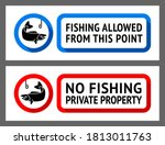 stickers set no fishing or... | Shutterstock .eps vector #1813011763