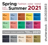 fashion color trends spring... | Shutterstock .eps vector #1813020853