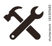 wrench and hammer. tools icon...