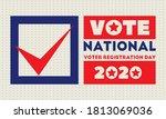 national voter registration day.... | Shutterstock .eps vector #1813069036