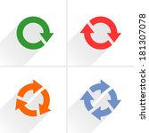 4 color arrow reload  rotation  ... | Shutterstock .eps vector #181307078