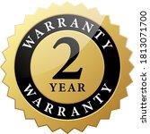 2 year warranty label black... | Shutterstock .eps vector #1813071700