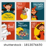 trick or treat party  dad  mom  ... | Shutterstock .eps vector #1813076650