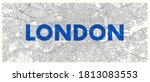 city map london  detailed road... | Shutterstock .eps vector #1813083553