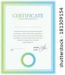template border diplomas ... | Shutterstock .eps vector #181309154