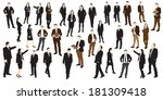 group of business people.... | Shutterstock .eps vector #181309418