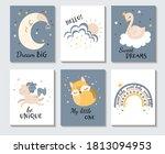 set of cute pastel... | Shutterstock .eps vector #1813094953
