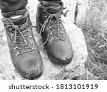 Boots On Top Of Malham Cove.