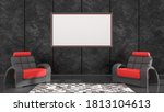 black interior with black and...   Shutterstock . vector #1813104613