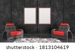 black interior with black and...   Shutterstock . vector #1813104619