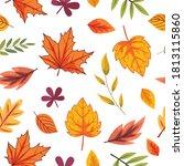 seamless autumn leaves... | Shutterstock .eps vector #1813115860