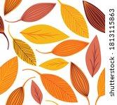 seamless leaves for autumn... | Shutterstock .eps vector #1813115863