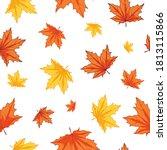 seamless pattern of autumn... | Shutterstock .eps vector #1813115866
