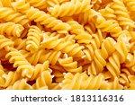 Dried Pasta Fusilli Texture...