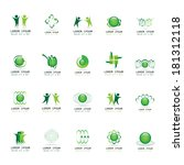 abstract icons set   isolated... | Shutterstock .eps vector #181312118