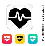 pulse heart icon on white...