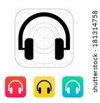 audio headphones icon.