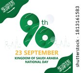 happy national day 90th the... | Shutterstock .eps vector #1813161583