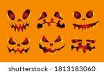 collection of halloween... | Shutterstock .eps vector #1813183060