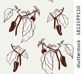 vector seamless pattern with... | Shutterstock .eps vector #1813199110