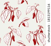 vector seamless pattern with... | Shutterstock .eps vector #1813199116