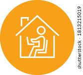 working from home outline icon | Shutterstock .eps vector #1813215019
