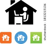 work from home vector icon | Shutterstock .eps vector #1813215136