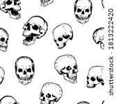 seamless pattern of various... | Shutterstock .eps vector #1813222420