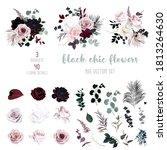 dusty pink  pastel  black... | Shutterstock .eps vector #1813264630