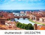 Arno River And Ponte Vecchio...