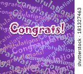 congrats card with typo design... | Shutterstock .eps vector #181327463
