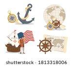 christopher columbus cartoon... | Shutterstock .eps vector #1813318006