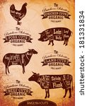 animal,bacon,beef,bird,body,brisket,bullock,butcher,carve,cattle,chicken,cow,cut,design,diagram