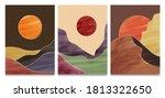 mid century modern minimalist... | Shutterstock .eps vector #1813322650