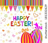 colorful easter card. ... | Shutterstock . vector #181332629
